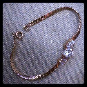 18K HGE marked bracelet with Cubic Zirconia
